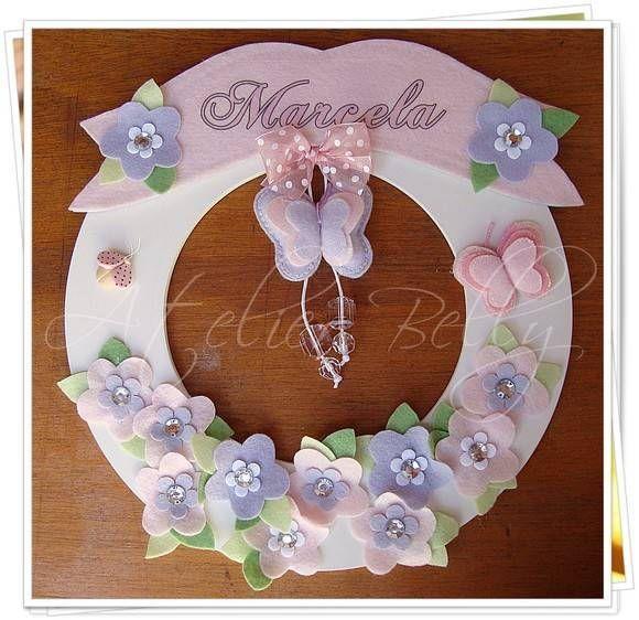 Porta maternidade de borboleta | Atelier Belly | 1AD280 - Elo7