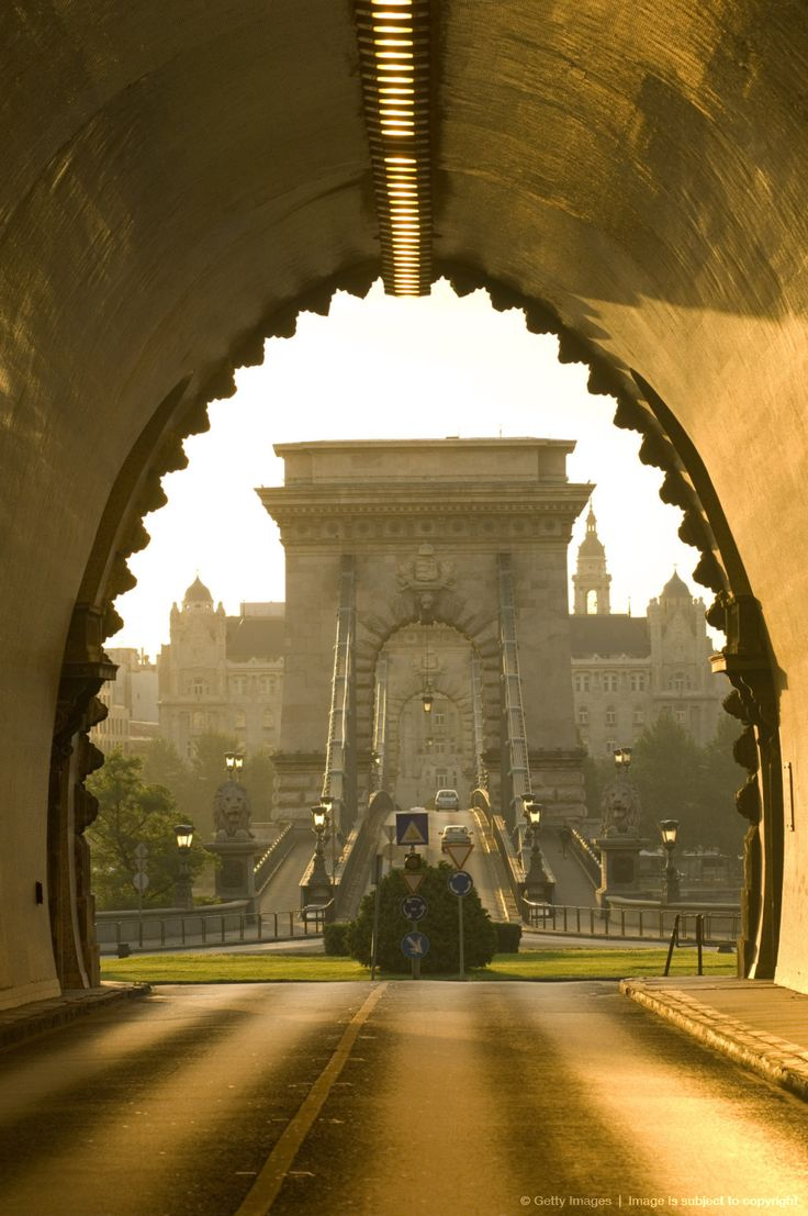 Tunnel Entrance, The Chain Bridge, Budapest, Hungary  A travel board about Budapest Hungary. Includes things to do in Budapest, Budapest nightlife, Budapest food, Budapest tips and much more about what to do in Budapest. -- Have a look at http://www.travelerguides.net