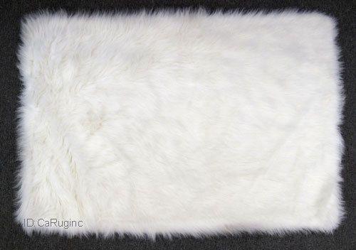 "3x5 Rug  Shaggy Fluffy Flokati  SHAG Solid  White 3 inch Thick   3'3'x4'10"" NEW #ShagFlokati"