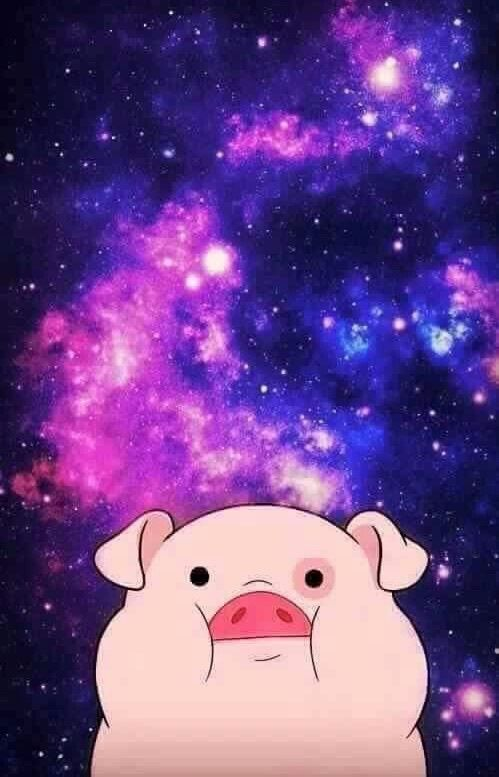 pig, galaxy, and pato image Fall wallpaper, Gravity