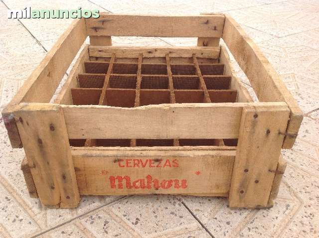 ANTIGUA CAJA DE MADERA DE CERVEZAS MAHOU - foto 3