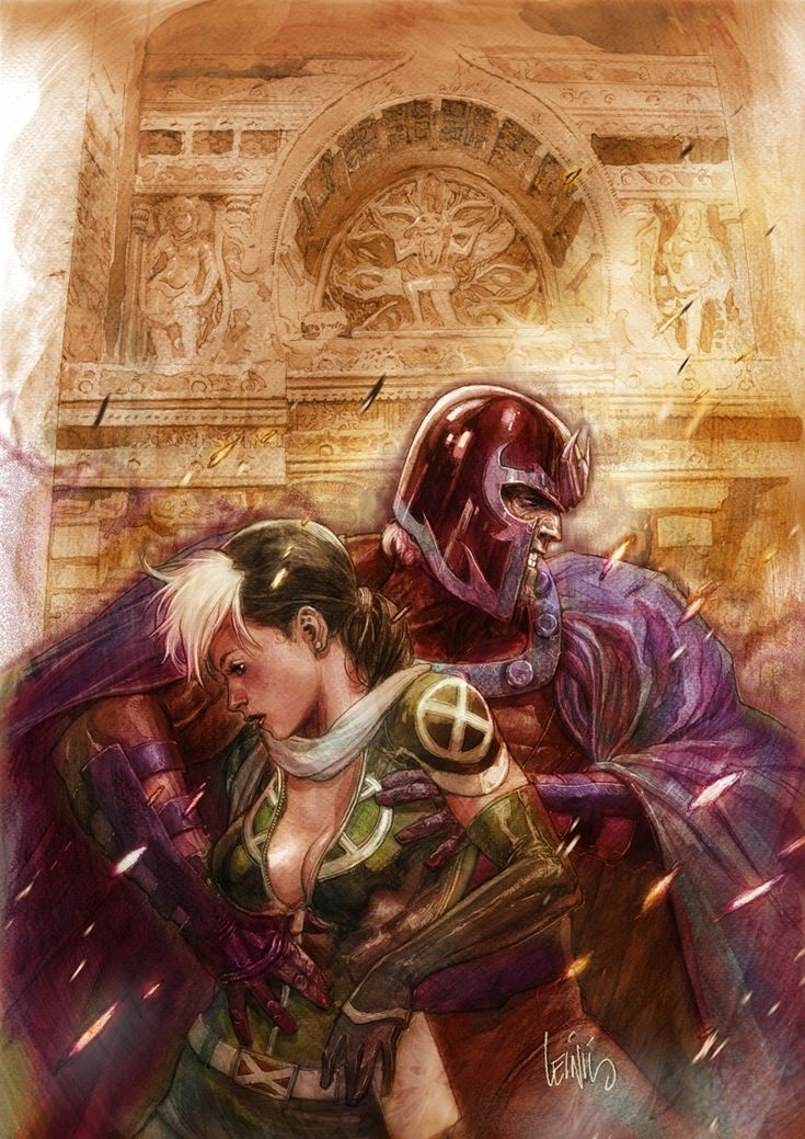 Magneto and Rogue by Leinil Francis Yu