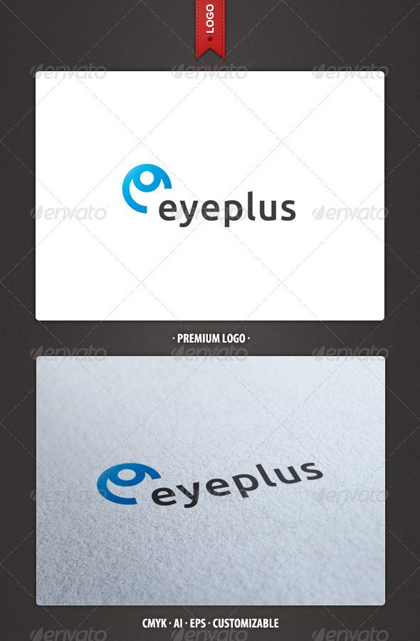 Eye and Letter E Logo Template  #GraphicRiver