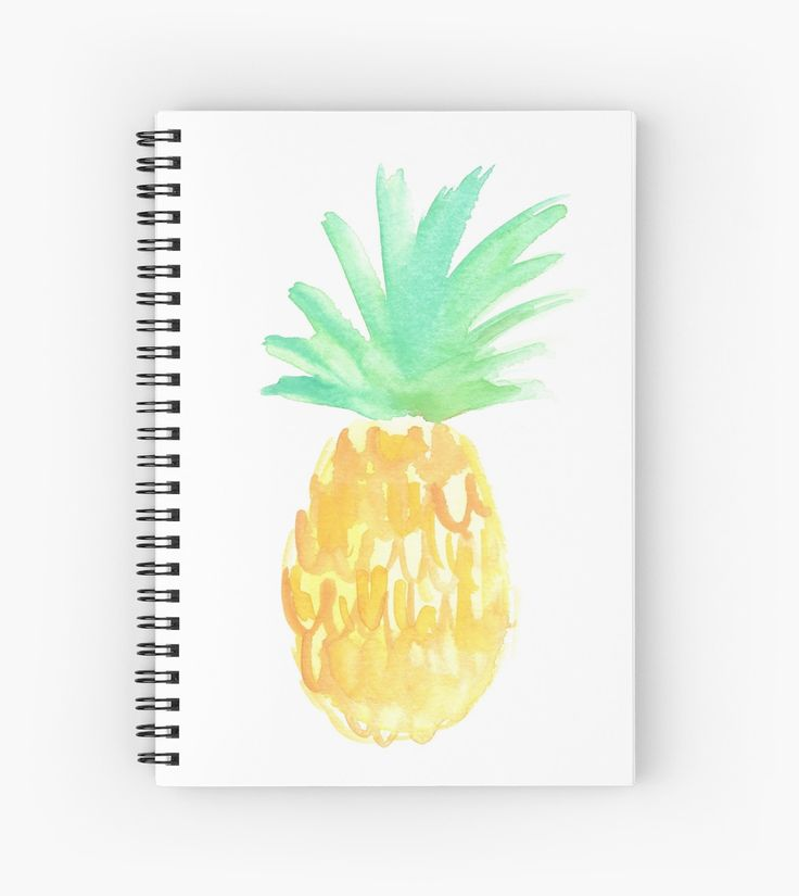 Salty Pineapple Spiral Notebook | Watercolor Pineapple | Original painting by Kristen Laczi of Hello Monday Design | Pineapple Art | Pineapple Journal | Pineapple Notebook | School Supplies | Summer journal