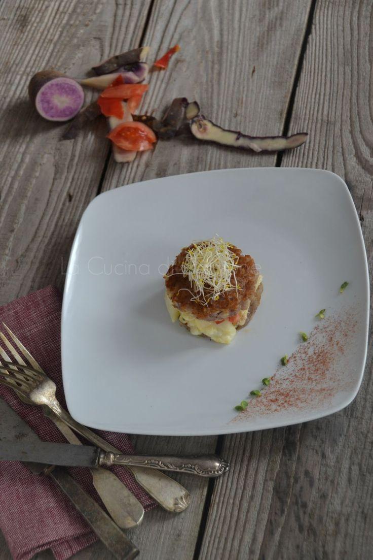 La Cucina di Stagione: Rösti di patate violette, baccalà e polvere di pomodoro