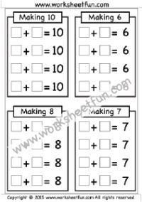 Making 6, 7, 8 & 10 – One Worksheet + tons of other awesome worksheets to use during instruction or for math centers