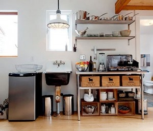 TIny Kitchen in a 250 sq ft house