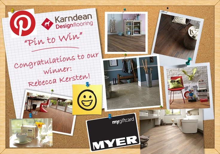 Congratulations to our 'Pin to Win!' competition winner, Rebecca Kersten! Thanks to everyone who entered - it was tough making a decision as there were so many fantastic entries! Check out the winning board here:   http://pinterest.com/rebeccak971/mykarndean/