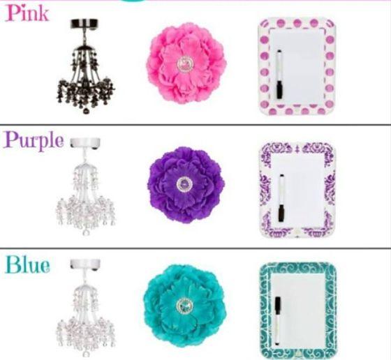 Lampjes, Bloemmagneten, spiegeltjes, bakjes, mix en match jouw eigen stijl zodat jouw kluisje ook echt bij jou past!
