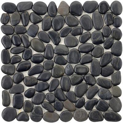 black river rock floor for bathroom...I can feel them already...