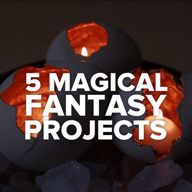 5 Magical Fantasy Projects #lamps #light #flowers #magical