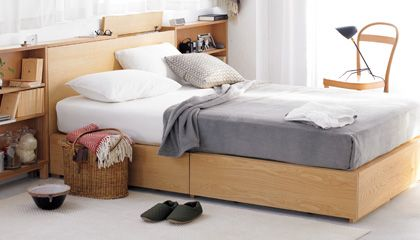 Muji Large Double Light Ash Bed Google Search