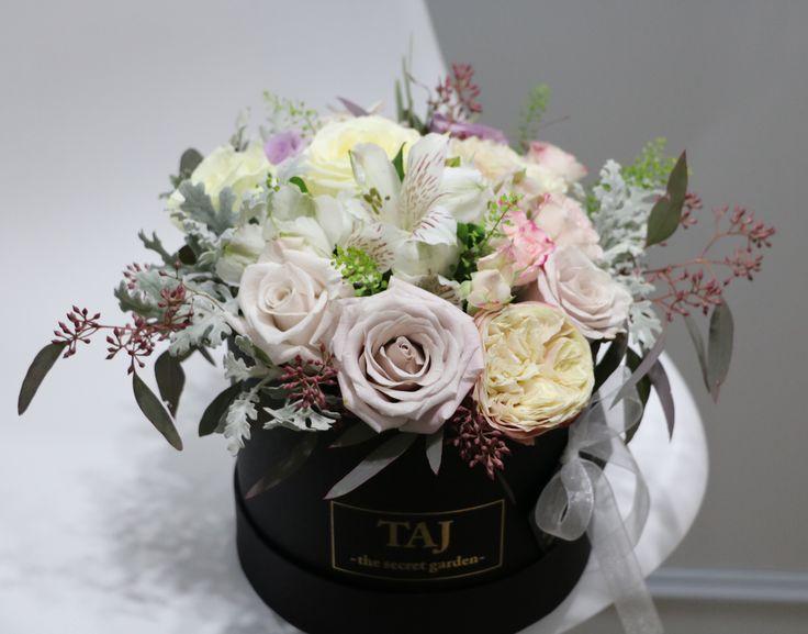 Cutie cu flori minunate #tajthesecretgarden #pitesti #florariataj #atelierdeflori
