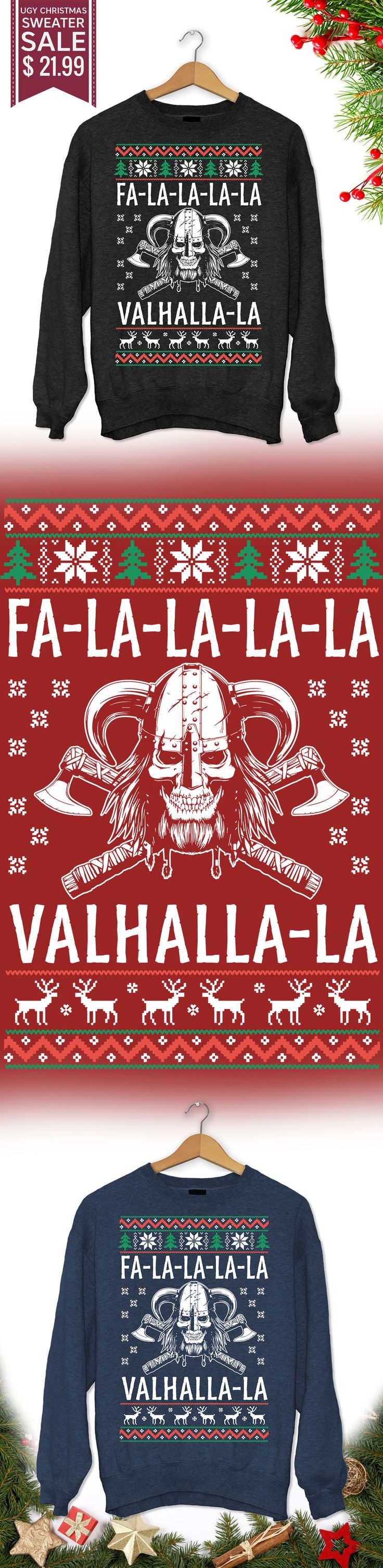 Christmas Gift Valhalla Sweater - Get this limited edition ugly Christmas Sweater just in time for the holidays! Buy 2 or more, save on shipping!