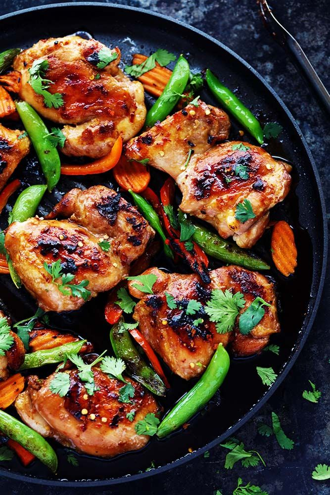 Thai Barbecue Chicken has a delicious thai marinade and is perfect served with some grilled veggies!  The entire family will love ...