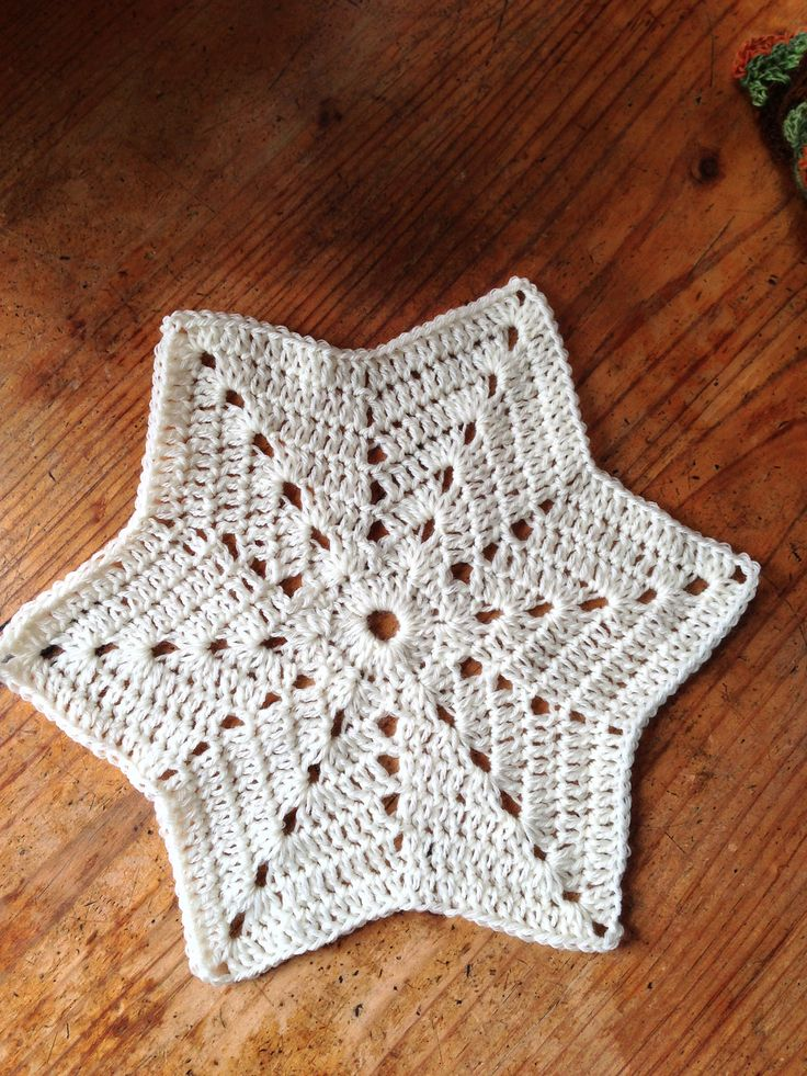 6 Pointed Xmas Star Motif By Desiree Klein - Free Crochet Pattern - (ravelry)