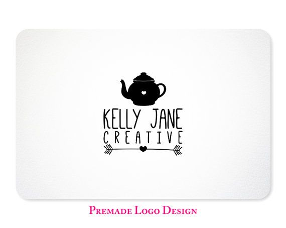 Custom Tea Pot Logo Design - Premade Logo Design for Photographers, Boutiques, Etsy Shops - Design 27