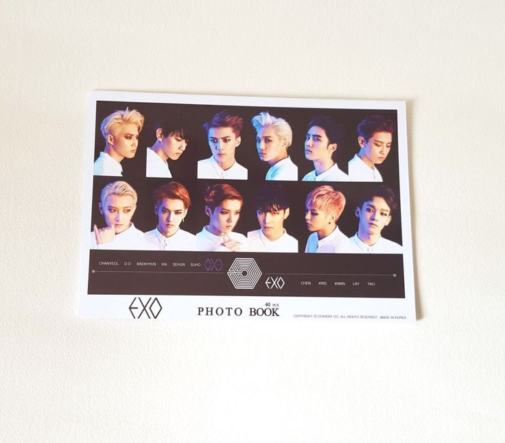 EXO ALBUM PICTORIAL OFFICIAL GOODS EXODUS Photobook 40PCS - (New)