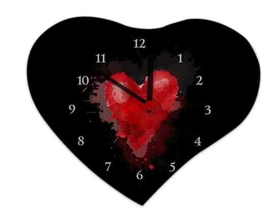 Orologio Cuore Legno 25x21 Red heart