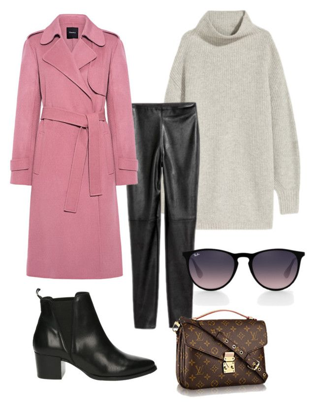 """""""Untitled #236"""" by stinasolheim on Polyvore featuring Privé, Theory and Ray-Ban"""