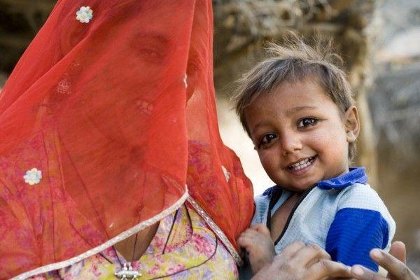 moeder en kind in Rajasthan