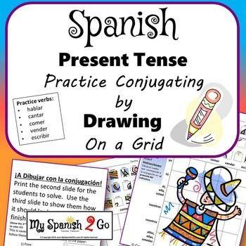 798 best spanish class images on pinterest spanish class students draw what they see in the little square reference for the present tense onto the conjugation grid to create a picture negle Gallery