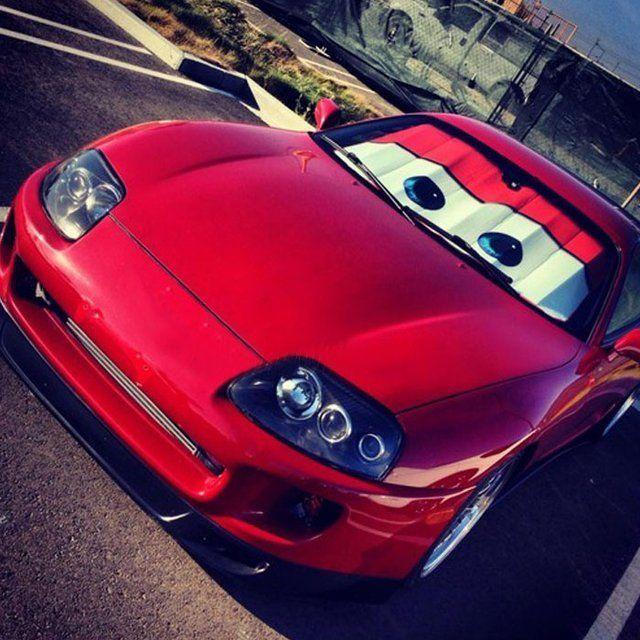 Fancy - Cars Lightning McQueen Windshield Shade