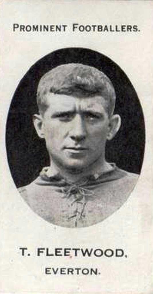 Tom Fleetwood of Everton in 1920.