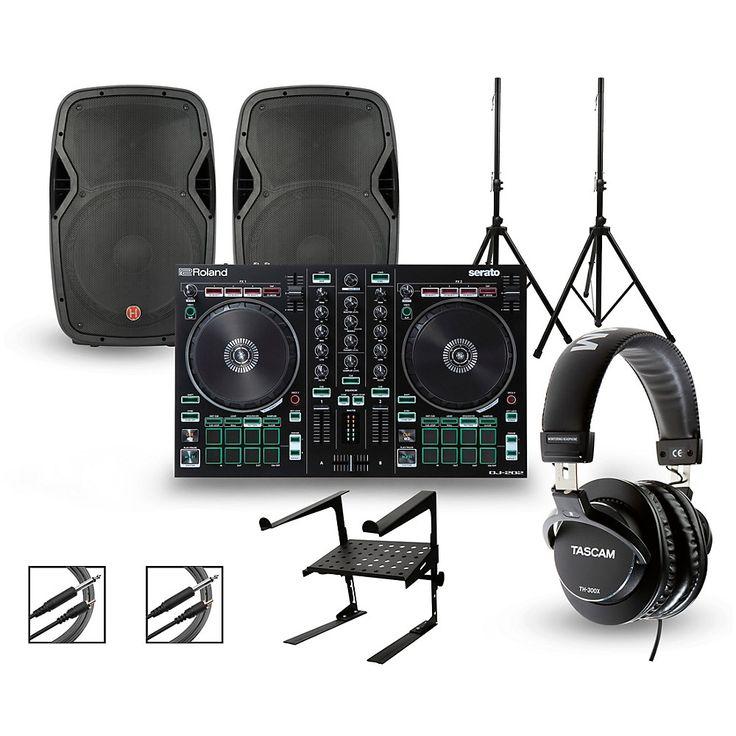 Roland DJ-202 with Harbinger V1015 DJ Package