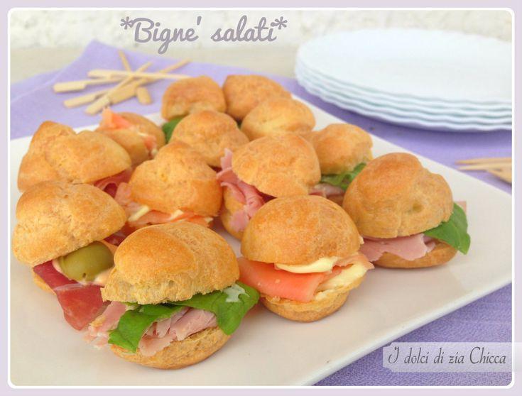 Bignè salati per aperitivo