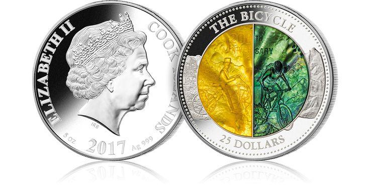 200. rocznica powstania roweru – po raz pierwszy w historii numizmatyki srebrna moneta z masa perłową w dwóch kolorach
