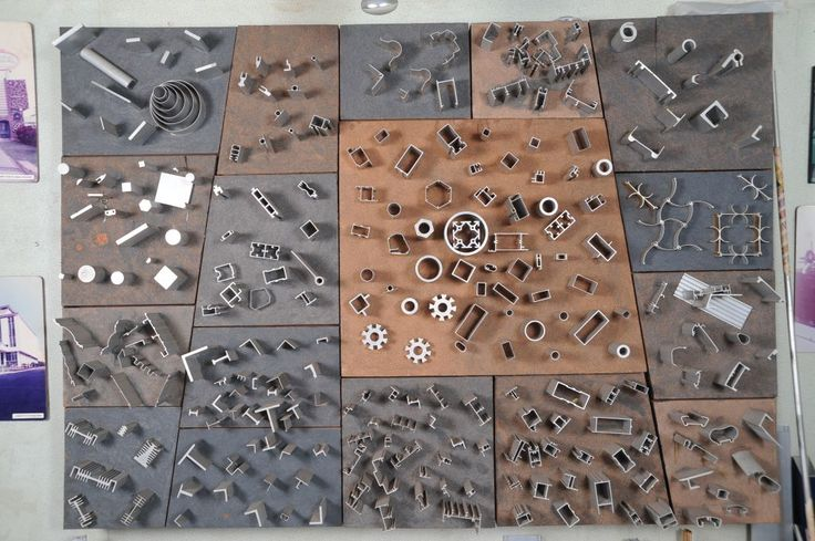 Jindal Aluminium - Extrusions Sections on the Display Board.