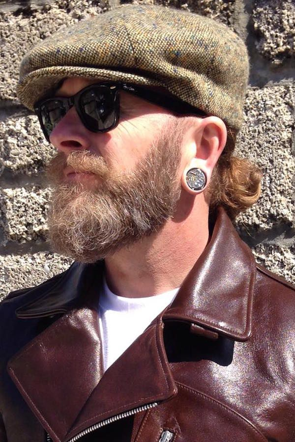 Shannon had a pair of 22mm (7/8 inch) Jamlincrow plugs for his wedding day. #steampunk