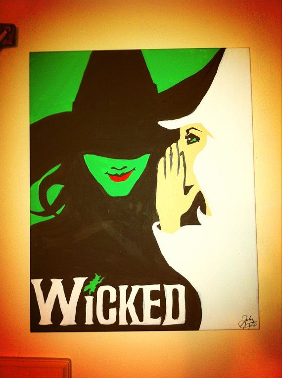 STILL AVAILABLE! Wicked the Broadway Musical Original by TheDisneyYouRemember, $60.00