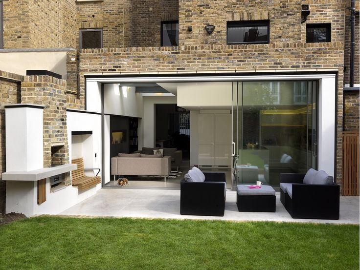 This is a great extension in brick with lovely connection o the garden. www.methodstudio.london