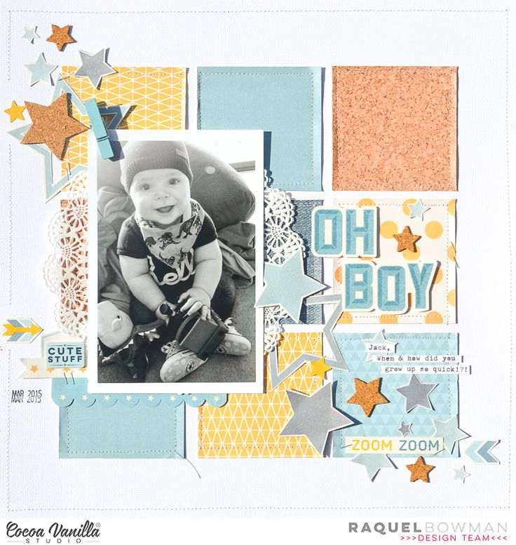 Oh Boy | Sugar & Spice and Flying High Layout | Raquel Bowman | Cocoa Vanilla Studio