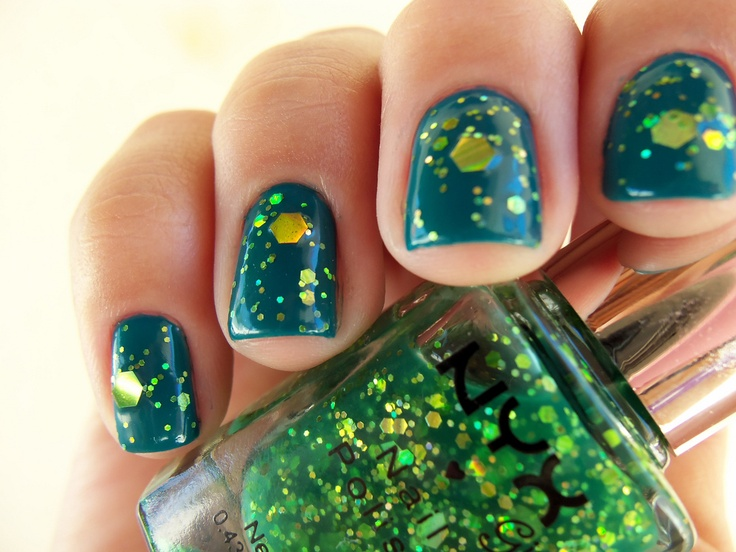 Enchanted Forest, Nyx Glitter nail polish, Glitter nails