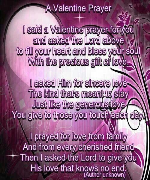 daily prayerprayer - Valentine Prayer