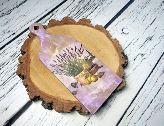 Decorative cutting kitchen board with lavender gift Provence