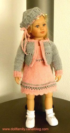 POM POM GIRL ...Outfits tutorials here /// Tutos tricot ici : www.dollfamily.fait-maison.com