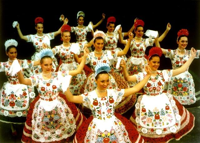 Embroidered ladies from Hungary