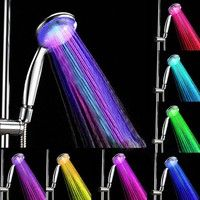 led 7 colors shower head water glow light colorful changing led shower light