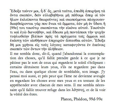 citation du Phédon de PLATON