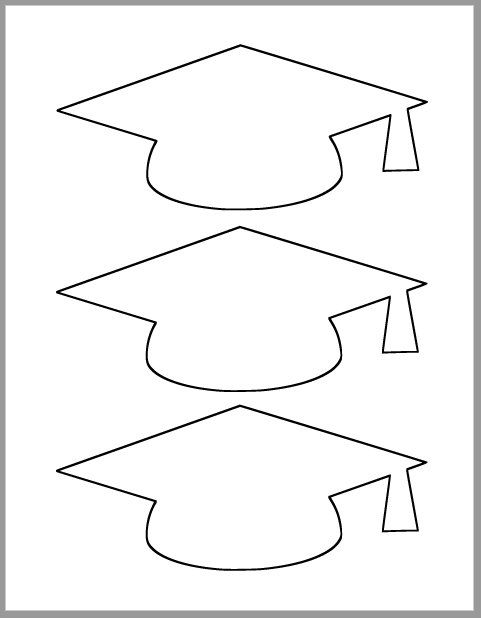 Graduation Cap Template-Printable Template-Grad Party Decor-Graduation Advice Cards-Graduation Cutout-Large Grad Caps-DIY Party Decor