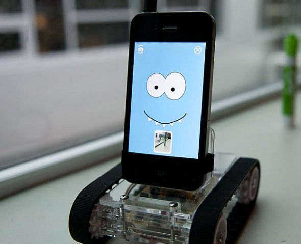 Iphone controlled robot