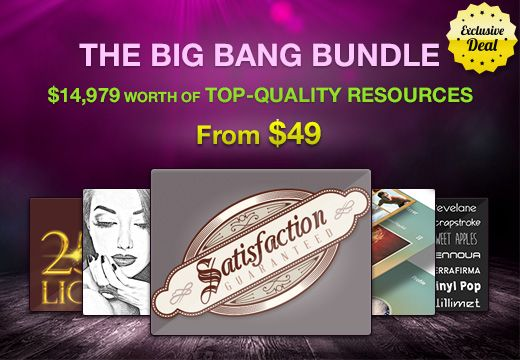 Check out the Big Bang Bundle: A Design Bundle Worth $15K for Only $49…Insane!