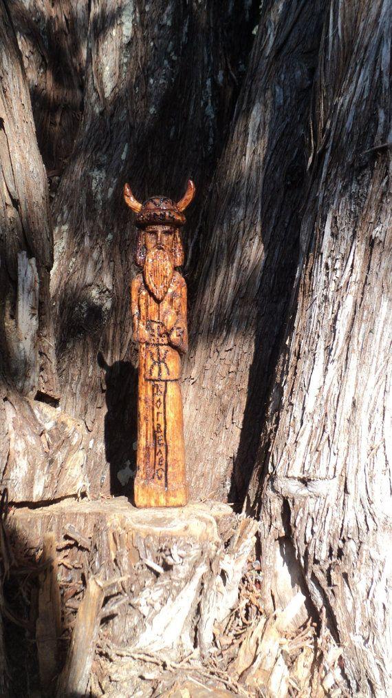 handmade wooden pagan God kumir by TOFRAR on Etsy