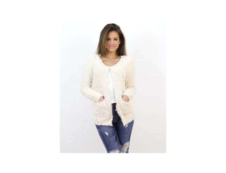Cardigan Tricotat cu Buzunare - Pulovere și Cardigane - Famevogue  #haine #imbracaminte #moda #style #sweaters #trends