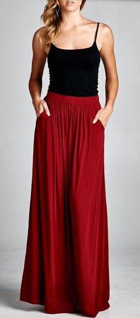 Taylor Skirt in Pomegranate...with pockets!!