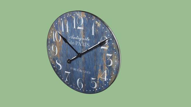 Horloge Antiquité de Paris Maisons du monde Ref : 111405 Prix 44 euros - 3D Warehouse